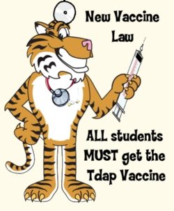 Tdap Booster For This Year's 6th Graders.Click Here For Immunization Clinics)
