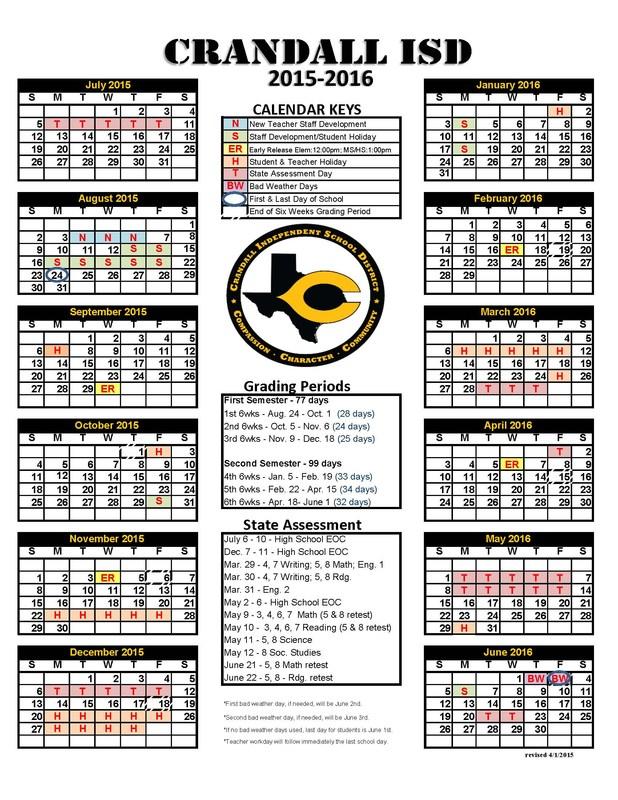 2015-2016 District Calendar