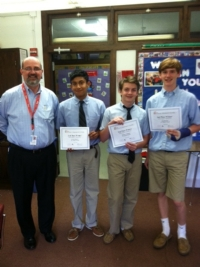 Stock Market Game - Congratulations to Sean B., Mac M. and Kevin S. for winning 2nd place in the Stock Market Game!