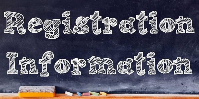 Registration Information 2016-2017 Thumbnail Image