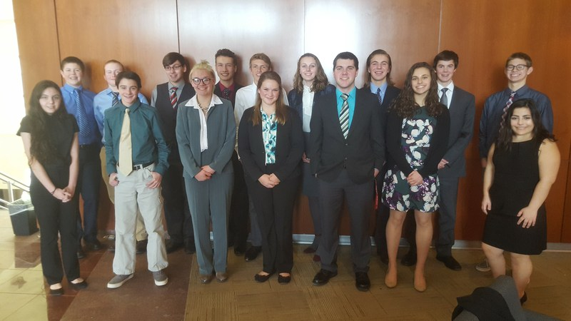 TKHS students competed recently at the regional BPA contest with nine students advancing to the state contest in Grand Rapids in March.