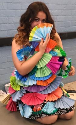 Hawthorne High School Hosts Geometry Fashion Show