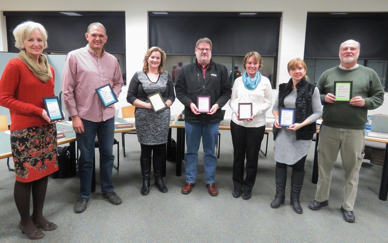 TK Board of Education members received special gifts from students as part of board appreciation month.