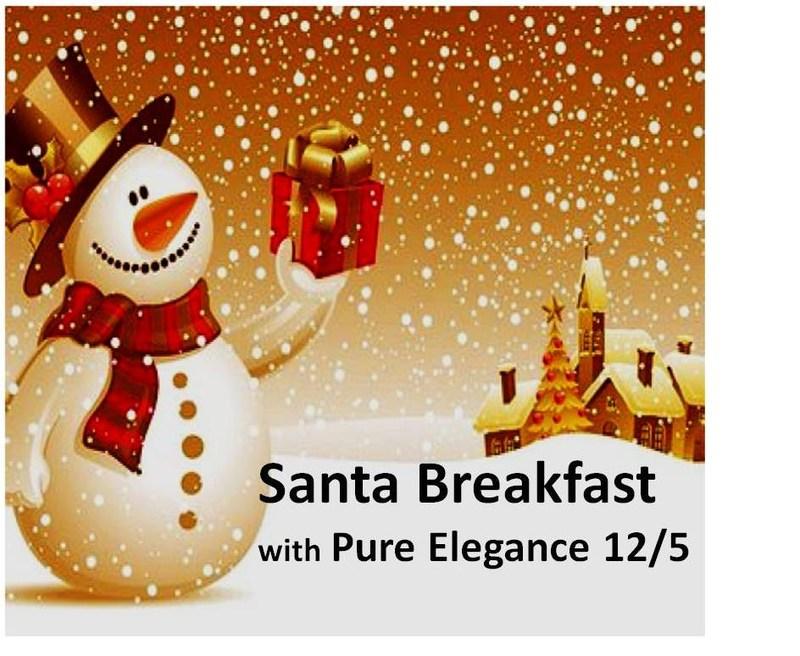 Santa Breakfast with Pure Elegance December 5!