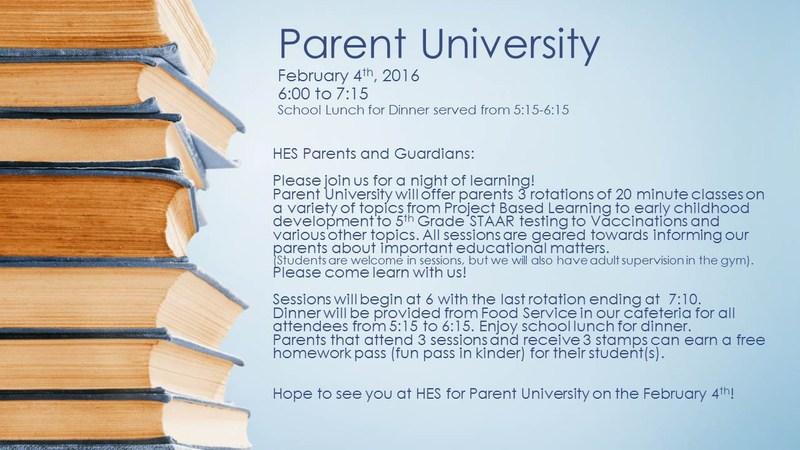 HES Parent University