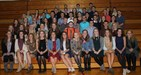 The 58 new members of the Thornapple Kellogg High School National Honor Society are pictured.