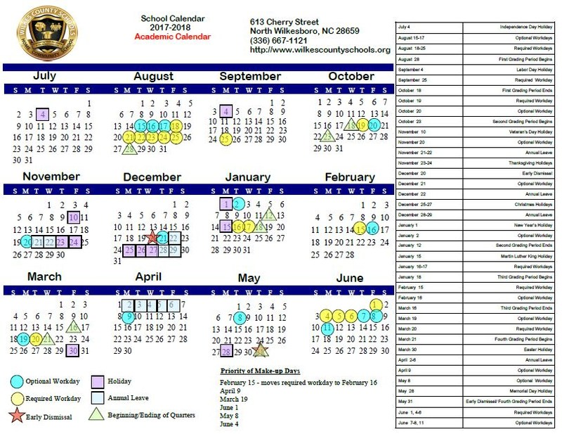 School Board Approves 2017-2018 Academic Calendar Thumbnail Image