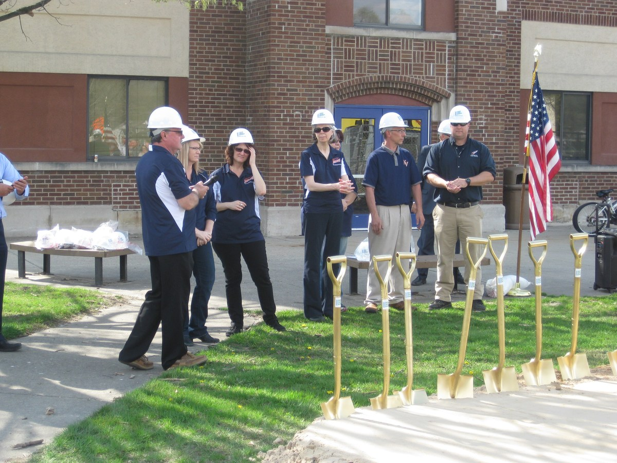 Ground Breaking Ceremony at the High School