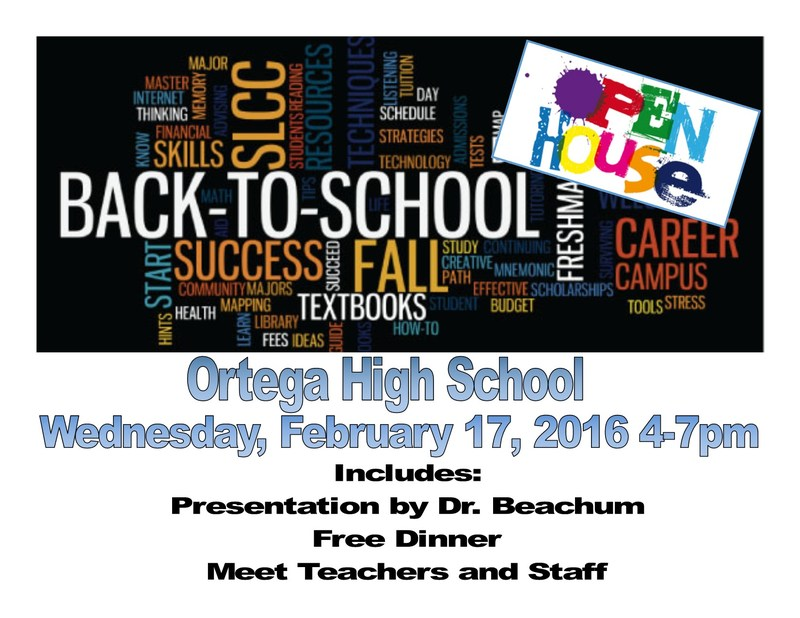 Back To School / Open House - Wednesday, February 17, 2016