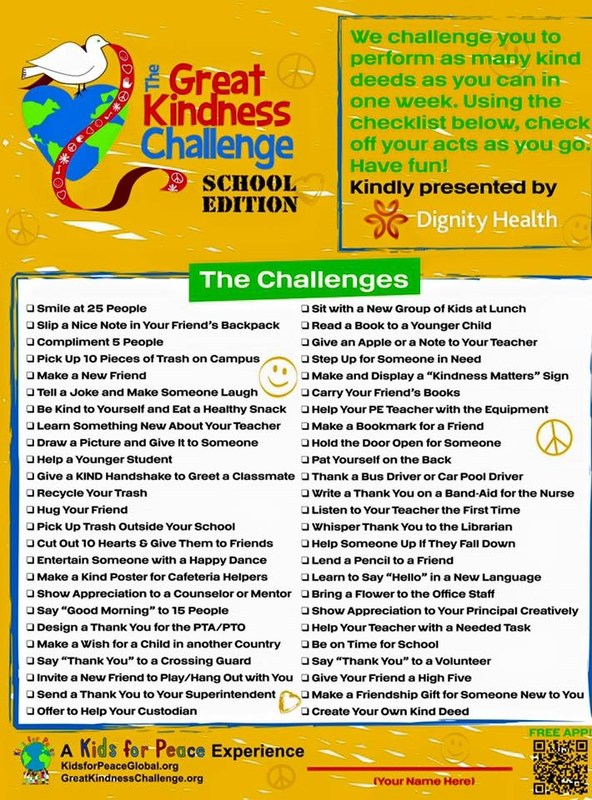 Next Week - The Great Kindness Challenge!