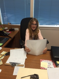 Sophie M is Principal for the Day!