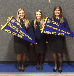 Franklin FFA Students Place at Area