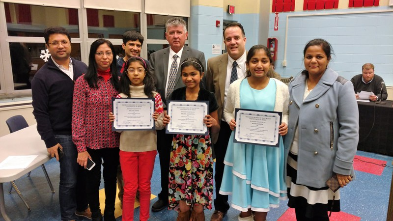 Secaucus Middle School Scripps Spelling Bee Winners Honored at Board of Education Showcase of Success Thumbnail Image