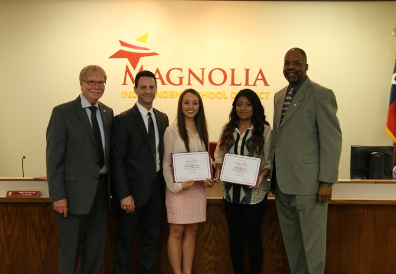 MISD School Board Honors September Students of the Month