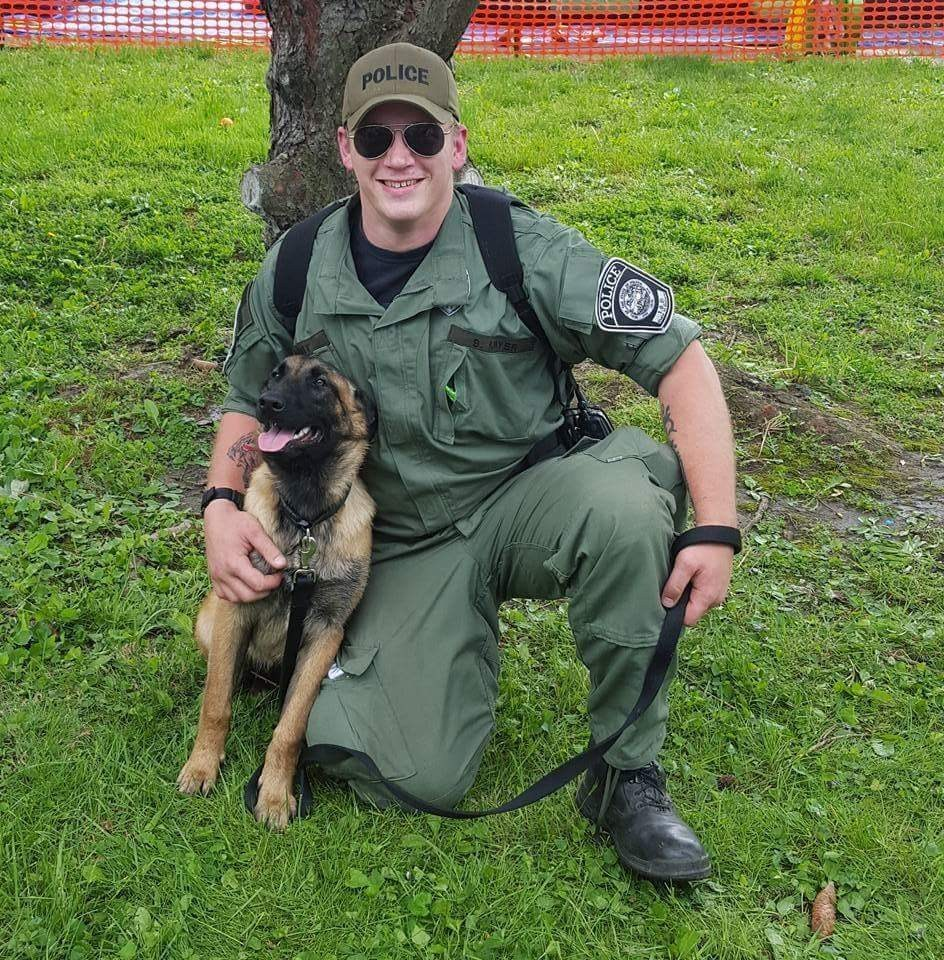 Officer Seth Meyer and K9 Rogue