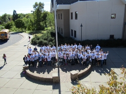 Earle Brown staff recognizing October as Bullying Prevention Month in our Take a Stand, Lend a Hand Bullying Prevention