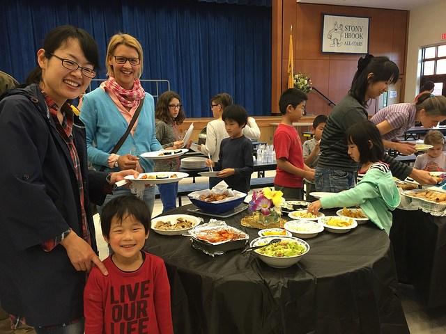Stony Brook Elementary students enjoy an international luncheon