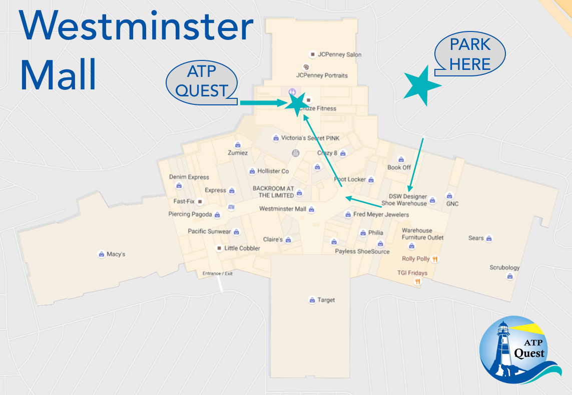 Map of Westminster Mall.