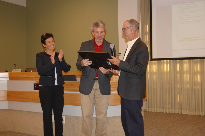 Albany Unified School District Board of Education recognizes Ted Barone, Albany High School Principal upon his retirement at the June 23, 2015 Board of Education Meeting
