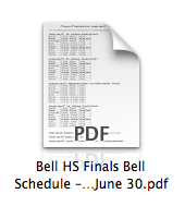 Updated FINALS & end of the year Bell Schedules