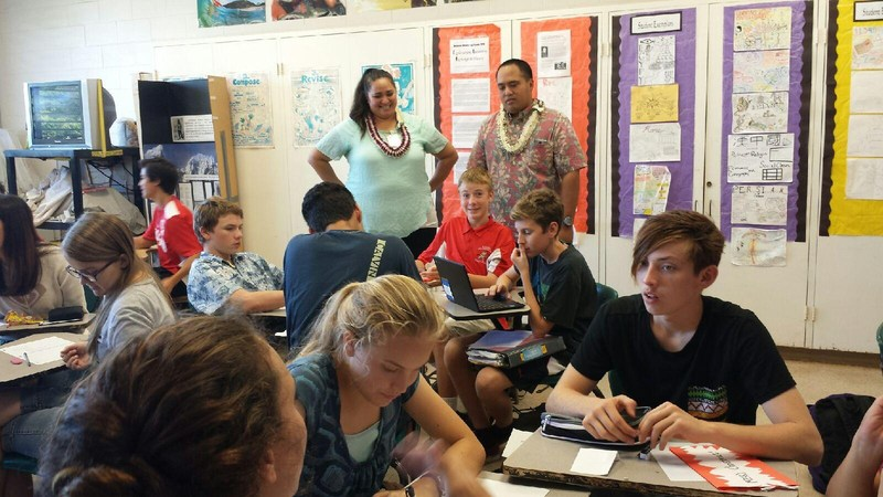 KHIS Campus Visit by State Rep. Feki Pouha and Larie Manutai (of Lawyers in the Classroom program)