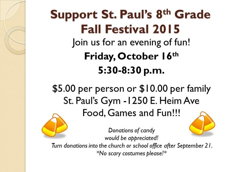 St. Paul's Fall Festival