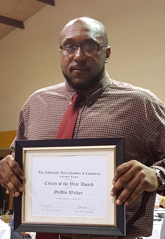Coffeyville Citizen of the Year is our very own Mr. Griffin Walker!!