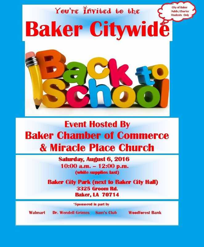 Baker Citywide Back-to-School Bash Thumbnail Image