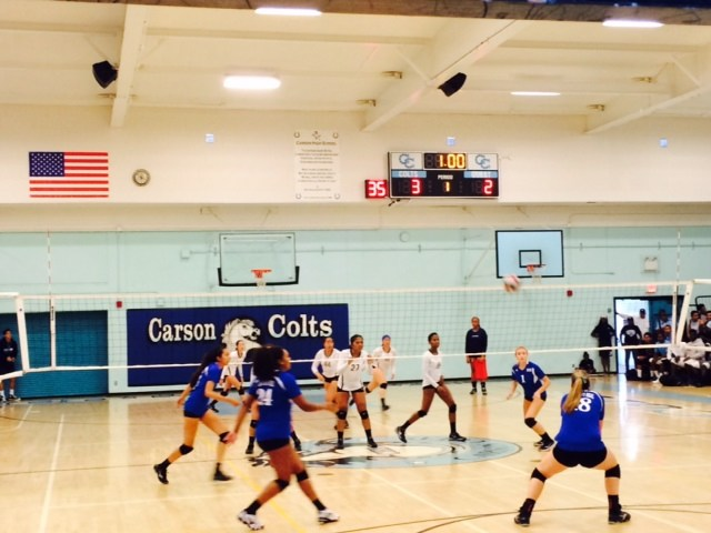 Carson Wins Girls Volleyball Thriller Against El Camino Real