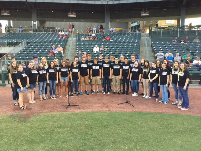 Choir Sings The National Anthem at the Naturals Game