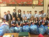 4th Grade - Recycling Day - They collected over 1,650 plastic bottles in one single week!