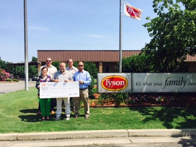TYSON AWARDS $25,000 GRANT