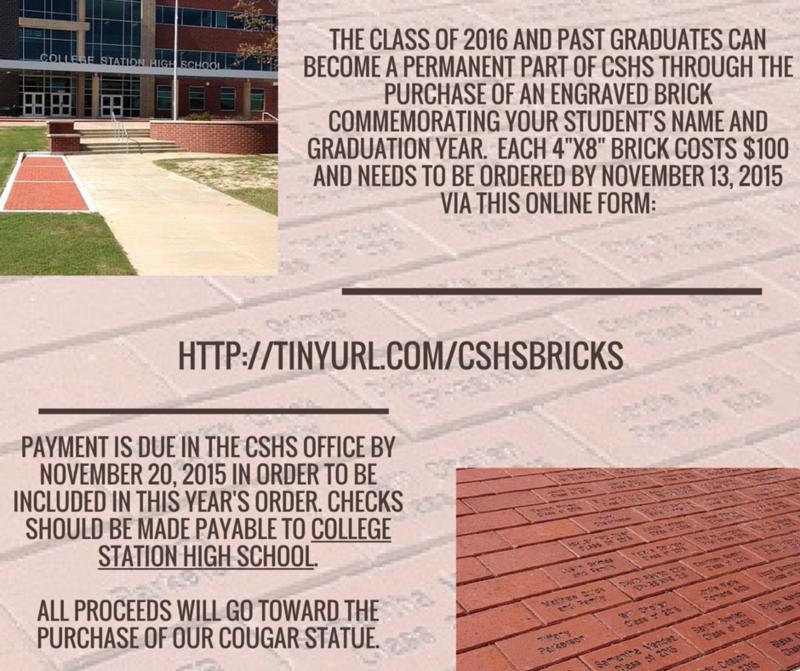 CSHS Commemorative Bricks