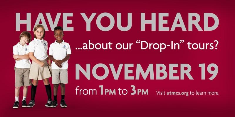 "Choir School admissions ""Drop-In"" tours: Thursday, January 7 -- 1 p.m. to 3 p.m."