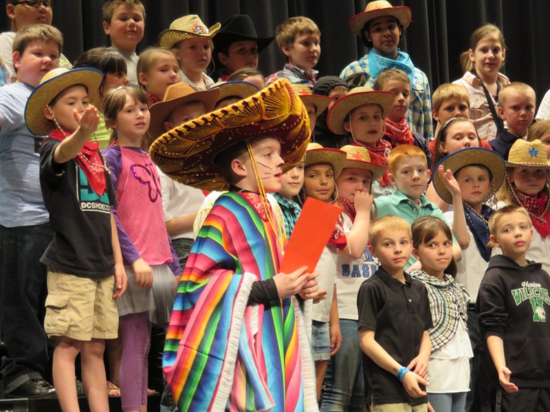 """Harrison Elementary Students Board the """"Music Express"""""""