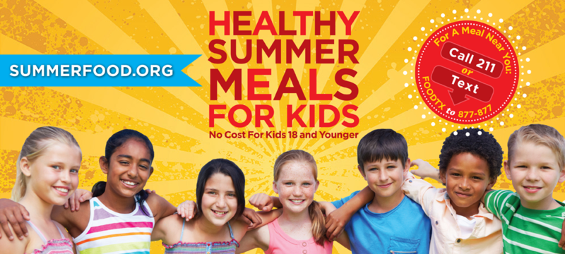 Free meals available to students this summer Thumbnail Image