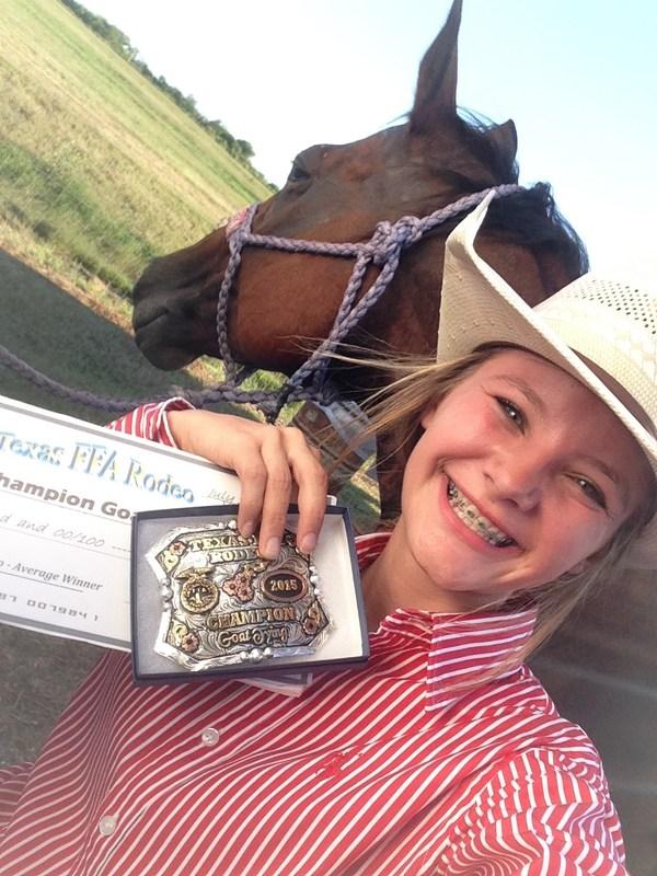 State FFA Rodeo Goat Tying Champion