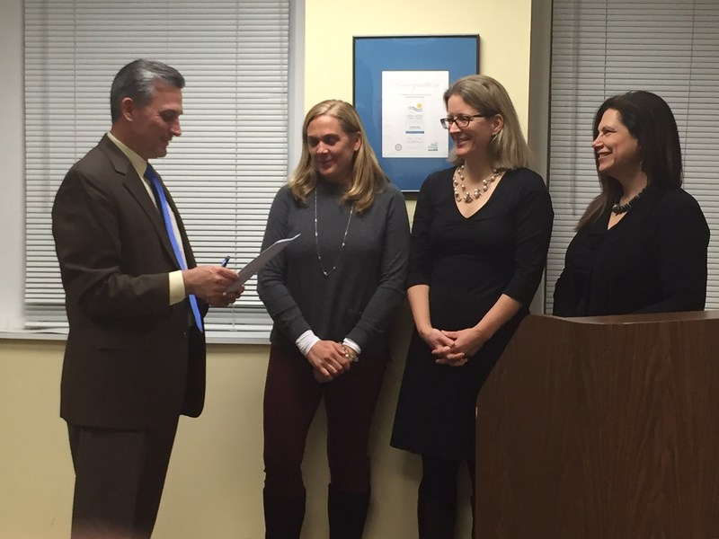 Board President, Vice President and Newest member sworn in on Monday