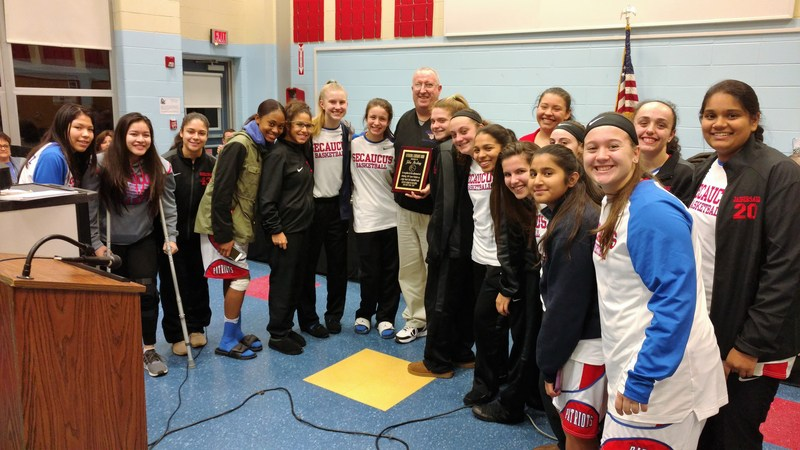Secaucus High School Girls Basketball Coach John Sterling Honored for His Achievement of 500 Career Victories Thumbnail Image