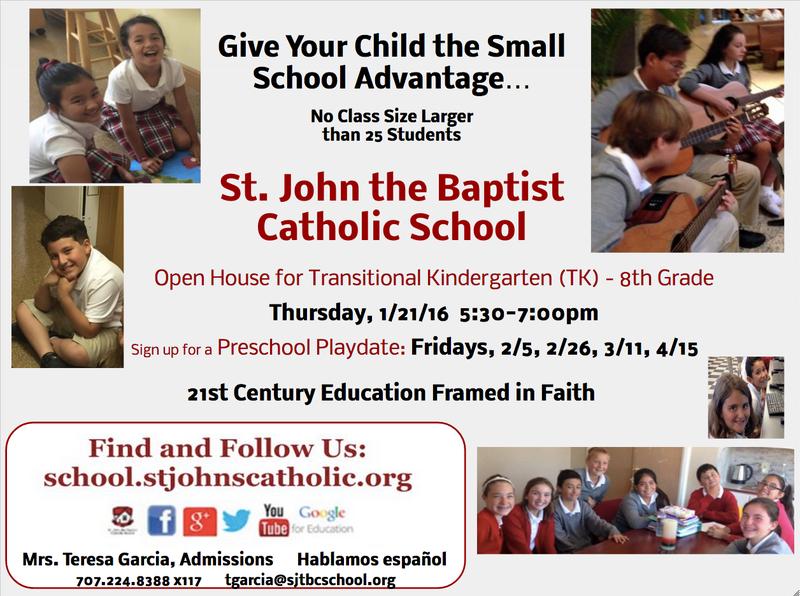Prospective Family Open House    Thursday, 1/21/16 5:30-7:00pm