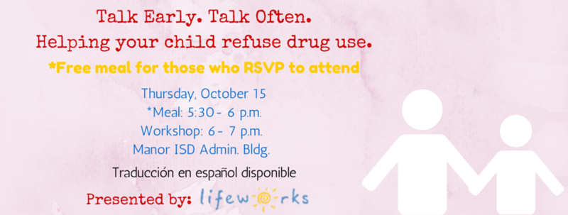 Talk Early. Talk Often. Helping your child refuse drug use.