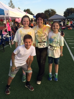 """Ophir was very """"colorful"""" at the 5K Color Run 2015!"""